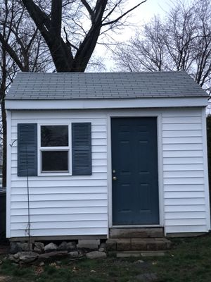 3 year old shed come take it apart and it's yours. This shed was built onsite. Steel door. for Sale in Cranston, RI