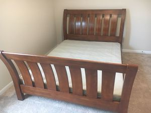 Queen bed frame with box spring for Sale in Austin, TX