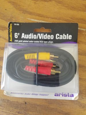 Audio/Video 6' Cable for Sale in Hollister, CA