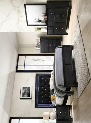 🏷Micah Black Panel Bedroom Set for Sale in Houston, TX