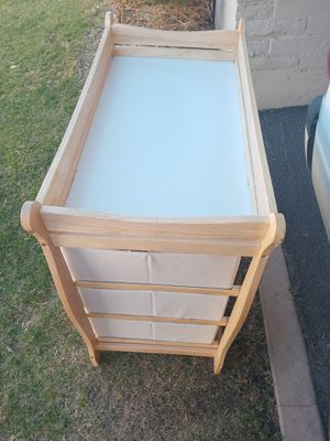 Baby changing table with three drawers i for Sale in Mesa, AZ