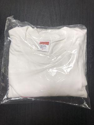 Supreme Box Logo L/S White Size Large for Sale in Pasadena, TX