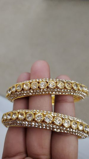 Gold plated diamond cut bangles for Sale in Roswell, GA