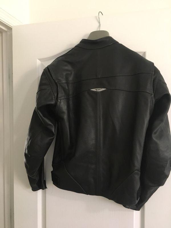 Teknic Motorcycle Racing Lather Jacket Black 38