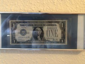 1928 blue note 1 dollar United States circulated bill!1878 1st yr of the pure silver Morgan U.S. dollar !100 Firm reduced 50!quick sell for Sale in Los Angeles, CA