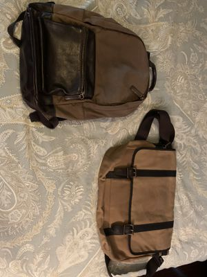 Fossil backpack and messenger bag for Sale in Fort Worth, TX