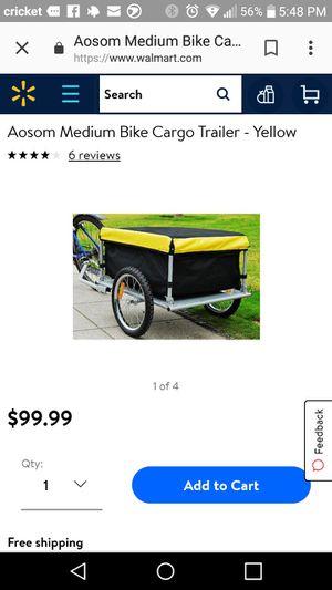 Aosom bike trailer. New never used 80 obo new in store 99 for Sale in Port Huron, MI