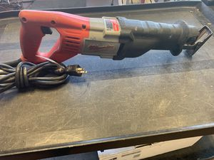 Milwaukee Sawzall. NO LOWBALLERS NO TRADES IN-STORE PICK-UP ONLY for Sale in Lyons, IL
