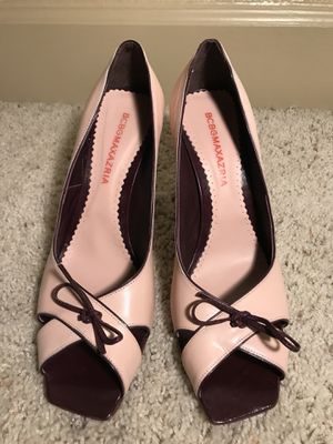 BCBGMAXAZRIA, pink leather heels, size 10 for Sale in Houston, TX