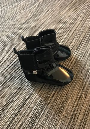 Baby girl black patent boots size 3 baby never got to wear! Paid $16+ for Sale in Huntington Park, CA
