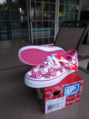 Hello Kitty authentic vans kids for Sale in Bakersfield, CA