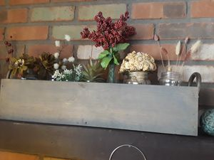Long farmhouse box. You can have the flowers and jars too! $20.00. for Sale in Phoenix, AZ