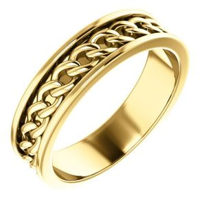 14K YELLOW GOLD LINK WEDDING BAND for Sale in Monaca, PA