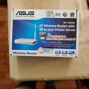 ASUS EZ Wireless Router With Printer Server for Sale in Alpharetta, GA