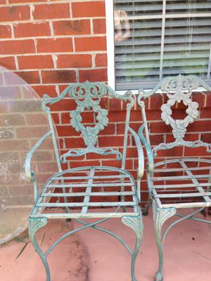 Wrought Iron Glass-top 4 Chair Outdoor Patio Set for Sale in Navarre, FL