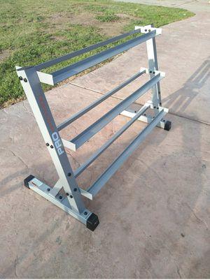 Solid Dumbbell Rack 3 levels Tier Shelves for Sale in Fresno, CA
