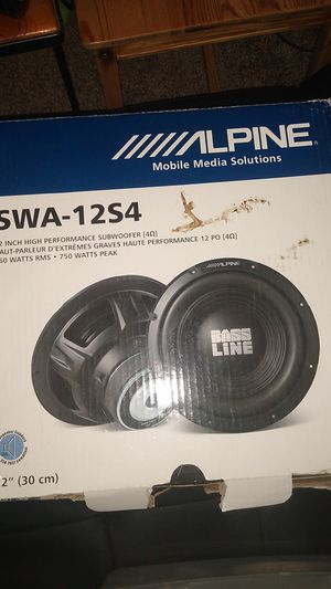 Alpine 12 inch sub woofer SWA-12S4 for Sale in Elk Grove, CA