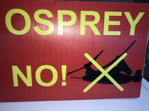 """Okinawa """"No Osprey"""" V-22 Protest Signs for Sale for sale  Oceanside, CA"""