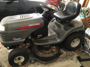 Craftsman lawn tractor. Has hydrostatic drive. It is 19 hp but engine is seized up. Transmission is good and so is mower. Put in a used engine for $1 for Sale in Dunstable, MA