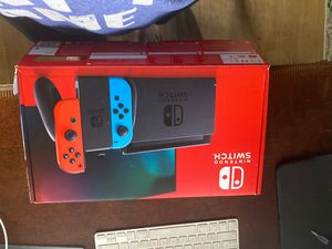 Nintendo switch, bnib, extra dock for multiple tvs for Sale in Tacoma, WA