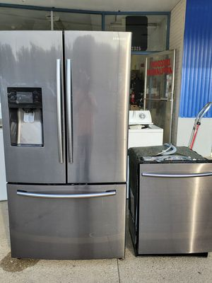 Samsung black stainless refrigerator and dishwasher for Sale in South Norfolk, VA