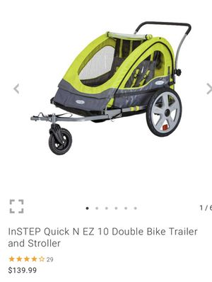 InSTEP Quick N EZ bike trailer and stroller for Sale in Mansfield, TX