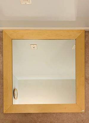 Contemporary Solid Wood Wall Mirror for Sale in Springfield, VA