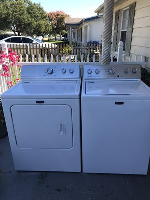 In good condition washer and dryer Maytag work excellent for Sale in New Port Richey, FL