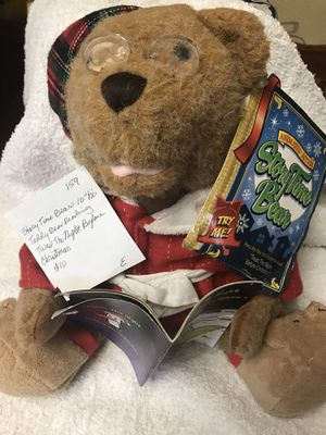 Used Working Storytime 10 in. Teddy Bear 'Twas The Night ... $10 for Sale in Pomona, CA