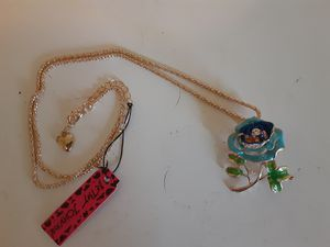 Betsey Johnson Floral Brooch/Necklace New W.Tags for Sale in Punta Gorda, FL