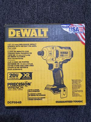 """DeWALT 20V MAX LITHIUM ION XR BRUSHLESS 1/2"""" MID-RANGE IMPACT WRENCH WITH DETENT PIN ANVIL (TOOL ONLY) for Sale in Los Angeles, CA"""