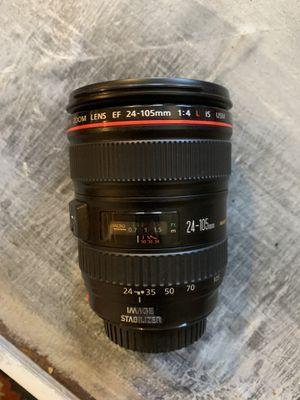 Canon EF 24-105mm 1:4 L IS lens for Sale in Oceanside, CA