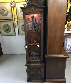 Lighted 3-shelf rectangular Curio Cabinet for Sale in Burlington, MA