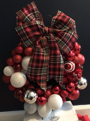 Christmas Ornament Wreath- Handmade! for Sale in Arlington, VA