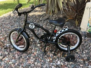 """Kids Electra Bike 8 Ball with 16"""" tires, training wheels and hand brake too! for Sale in Lakeside, CA"""