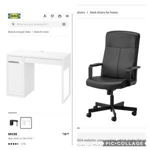 NEW DESK AND CHAIR *** Desk in Box*** for Sale in Corona, CA