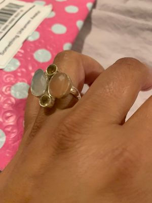 Peach moonstone moonstone citrine ring size 7 for Sale in Encinitas, CA