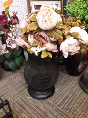 Artificial flowers and vase for Sale in Norfolk, VA