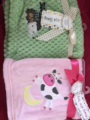 BABY blankets!!!! Super cute gift for ANY new mom for Sale in Los Angeles, CA