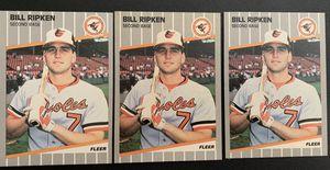 3 Billy Ripken Black Box Variation Fleer Baseball Card for Sale in Placentia, CA