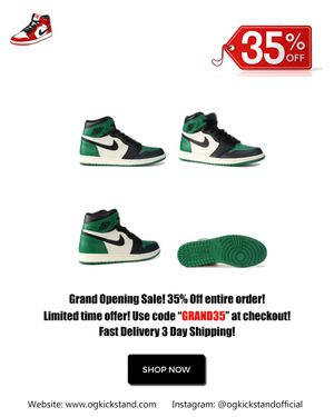 "JORDAN 1 RETRO HIGH OG ""PINE GREEN"" for Sale in Dover, DE"