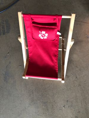 Wooden lounger chair be great for a doll or Santa Claus for Sale in Auburndale, FL