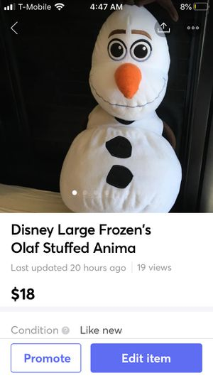 Disney Large Frozen's Olaf Stuffed Anima for Sale in Stratford, CT