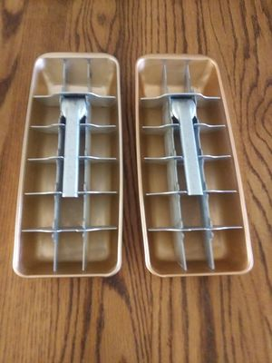 Vintage Admiral Aluminum Ice Trays - Copper Color - $10.00 for both for Sale in St. Louis, MO