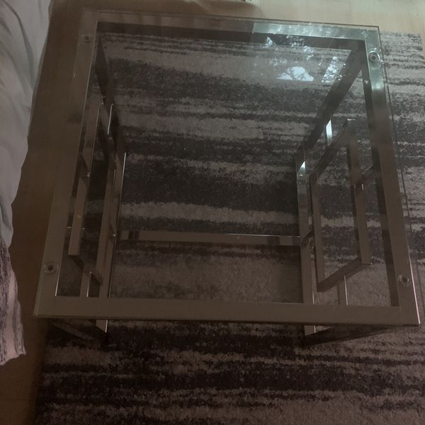2X2 Modern Glass End Table