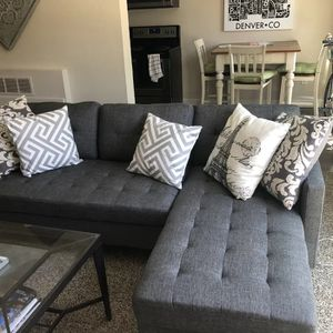 Brand New Grey Linen Sectional Sofa Couch for Sale in Wheaton-Glenmont, MD