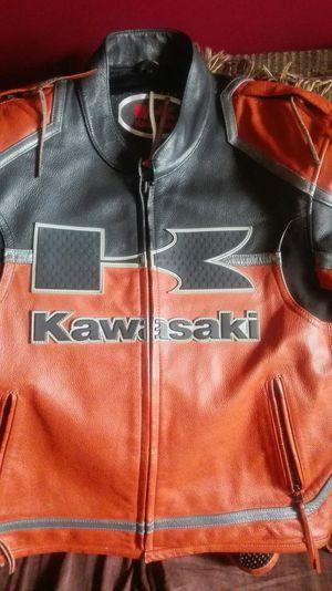Genuine Kawasaki Leather Motorcycle Jacket SMALL for Sale in Manassas Park, VA