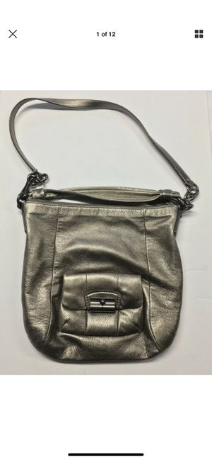 Women's COACH Kristin Metallic Bronze Leather Crossbody Hobo Shoulder Bag Purse for Sale in Mesa, AZ