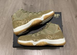 Jordan 11 Retro Olive Lux Bronze Size 9 M | 10.5 W UNDER RETAIL for Sale in Los Angeles, CA
