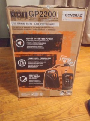 BRAND NEW GENERAC 2200 WATTS GENERATOR for Sale in Detroit, MI